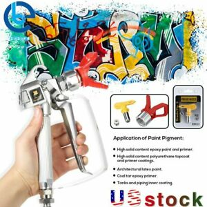 New 3600psi Airless Paint Spray Gun 517 Spray Tip Nozzle Guard For Sprayers Us