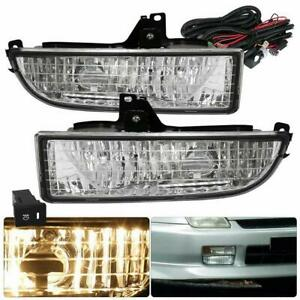 For 97 01 Honda Prelude Clear Lens Fog Lights Bumper Driving Lamps Wiring Switch