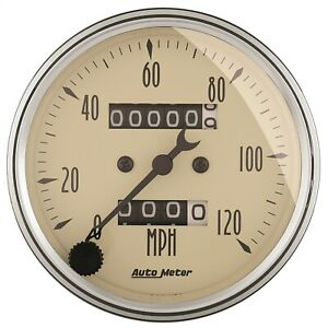 Autometer 1896 Antique Beige Mechanical Speedometer