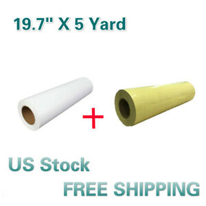 White Eco solvent Printable Heat Transfer Vinyl application Tape 19 7 X 5 Yard