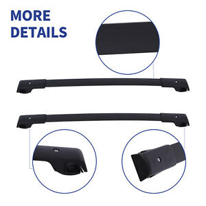2pcs Cross Bar Roof Rack Carrier Fit 2014 19 Subaru Forester Crosstrek Impreza