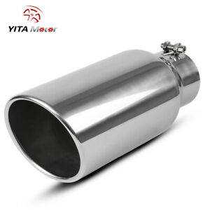 Yitamotor Stainless Steel Truck Diesel Exhaust Tip 4 Inlet 6 Outlet 15 Long