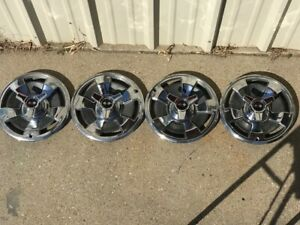 1966 Corvette Hubcaps 15 Used Original Spinners