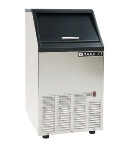 Maxx Ice 75lb Energy Star Commercial Undercounter Clear Bullet Ice Maker Machine