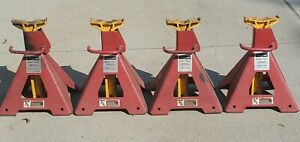 4 Snap On Usa Jack Stands Lot Set Series 8 5 Ton Capacity Ya875 Height 26
