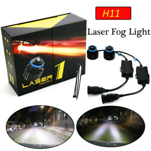 H11 H8 H9 Laser Led Fog Lamp Headlight Bulb Kit Super Bright Strong Beam White W