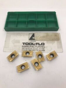 Tool flo Carbide Inserts Apft 1604pdr 79 Gp5 Qty 6