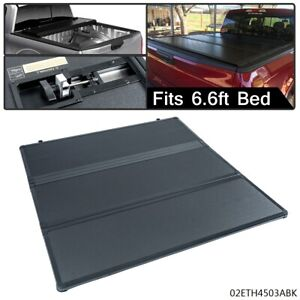 For 2007 2013 Chevy Silverado Gmc Sierra 6 6 Ft Bed Tri Fold Hard Tonneau Cover