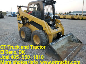 2018 Caterpillar 242d Open Cab Rubber Tire Skid Steer Loader Used