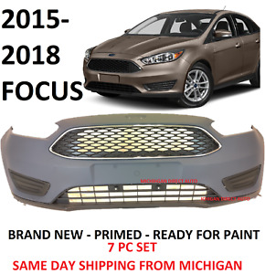 2015 2016 2017 2018 Ford Focus Front Bumper Cover Complete Grill Lower Upper