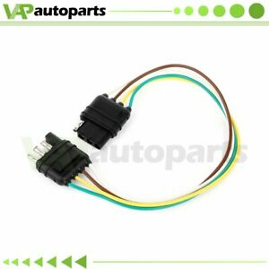 4 Pin Plug Trailer Light Wiring Harness Extension Double Ended Four Way 1ft