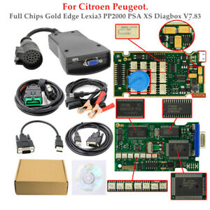 Car Full Chips Gold Edge Lexia3 Pp2000 Psa Xs Diagbox V7 83 For Citroen Peugeot
