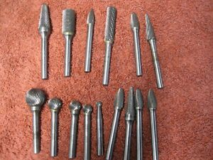 Machinist Tools Deburring End Mill Bits Vintage Milling Cutting Lot Of 15