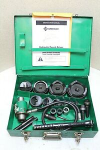 Greenlee 7310sb Hydraulic Knockout Punch Set W Metal Case 100 Tested
