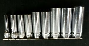 Snap On 10pc 3 8 Dr 6pt Sae Deep Socket Set 211sfsy