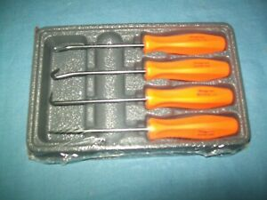 New Snap On Miniature Mini Hook Pick Awl Set Asa204bo Orange Hard Handle