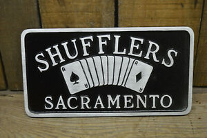 Sacramento Shufflers Vtg Style Car Club Plaque Hot Rod Custom Rat Scta Nhra Auto