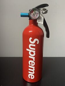 New Supreme Fire Extinguisher Red White Box Logo Ss15 Accessory Custom Art Piece