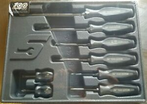 New Snap on Instinct 100 Anniversary Soft Handle 8pc Screwdriver Set Sgdx80bdtx