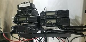 1 Motorola Xpr5350e And 3 Xpr2500 Mobile Two way Radio