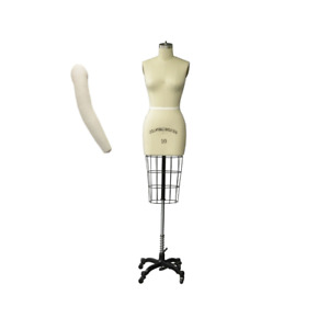 Pro Female Half Body Dress Form With Collapsible Shoulders Size 10