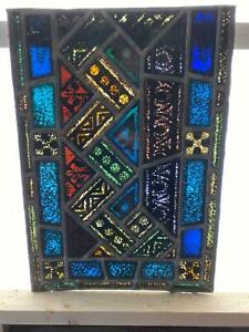 Antique German Stained Glass Church Window From A Closed Church W17