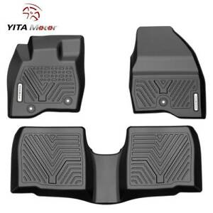Yitamotor Floor Mats Liner For 2017 2019 Ford Explorer All Weather Rubber Tpe