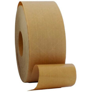 Gummed Kraft Paper Tape Water Activated Adhesive Packaging Tape Sealing Cartons