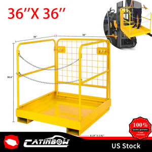 36 36 Inch Heavy Duty Forklift Cage Work Platform Collapsible Aerial Fence