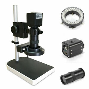 Digital Video Microscope Camera Set Hdmi Usb Led Magnifier Industrial 14mp