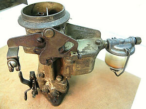 Vintage Carter 1bbl Carburetor E7t2 Auto Mechanic Rat Rod Parts Or Repair