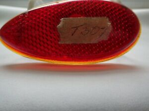 Vintage Ford Red Glass Tail Light Lens T 307 Teardrop Red Lens