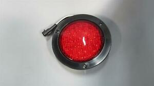 4 Round Red Led Lights Stop Tail Turn Marker Truck Trailer
