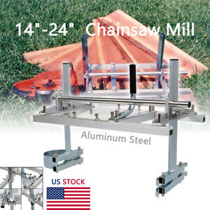 Portable Chainsaw Mill 14 24 Chain Saw Mill Aluminum Planking Lumber Us Ship