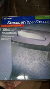 Royal Crosscut Paper Shredder Ht 500x New