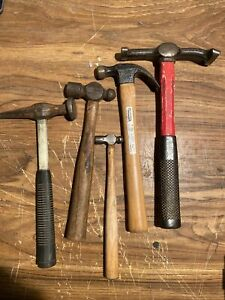Vintage Set Of 5 Blue Point Auto Body Hammers Nice