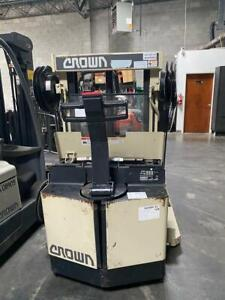 Crown Equipment Corporation Walkie Reach Pallet Straddle Stacker Used