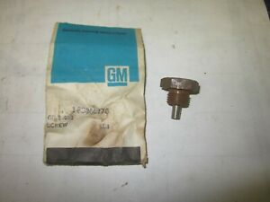 Nos 1955 70 Chevy Corvette Camaro Chevelle Impala Oil Pan Magnetic Plug 3866776