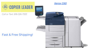 Xerox C60 Color 36k Meter Only Copier Printer Scanner Fax finisher Included