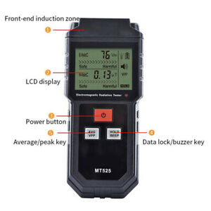 Digital Electromagnetic Radiation Detector Dosimeter Tester Meter Counter 1 New