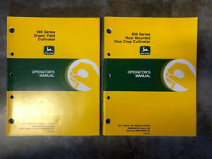 Lot Of 2 John Deere 980 Drawn Field And 856 Row Crop Cultivator Operator Manuals