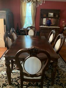 Dining Room Table Set Antique Wooden