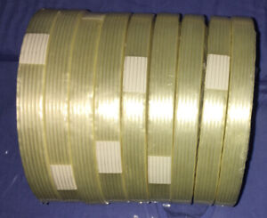 Filament Reinforced Strapping Fiberglass Tape 3 9 Mil 1 2 X 60 Yds 9 Pack
