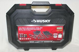 New Husky 105 Piece Mechanics Tool Set With 100 Position Ratchets 1 4 3 8 1 2