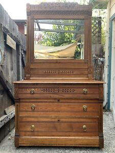 Hand Carved Antique Dresser