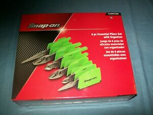 New Snap On 6 Pc Heavyduty Pliers Set Pl600es1pk Green Sealed