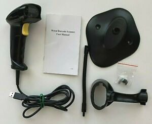 Handheld Usb Barcode Scanner Automatic Wired 1d Bar Code Reader Stand