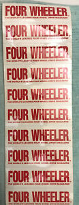 Rare Four Wheeler Magazine 1970 s 1980 s Sticker Lot Bronco Blazer Trail Duster