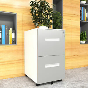 Yitahome Office Designs 2 Drawer Vertical Mobile File Cabinet Rolling Anti tilt