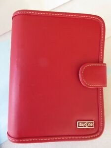 Compact 1 1 8 ring Franklin Covey Day One Sim Leather Planner Binder Mag Snap